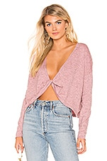Lovers + Friends Spring Sweater in Heather Pink