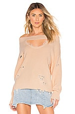Lovers + Friends Wilton Sweater in Nude