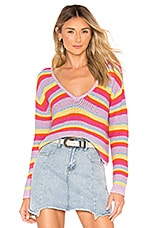 Lovers + Friends Camino Sweater in Bright Rainbow
