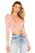 Lovers + Friends Macaroon Wrap Sweater in Light Pink