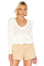 Lovers + Friends Pradet Sweater in White