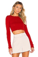 Lovers + Friends Braga Sweater in Poppy Red