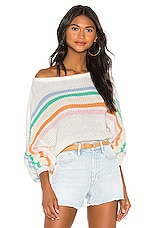 Lovers + Friends Rainbow Arc Sweater in White