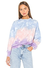 Lovers + Friends Tie Dye Pullover in Pastel Ombre