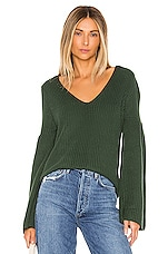 Lovers + Friends Addison Sweater in Forest Green