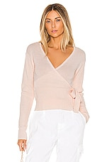 Lovers + Friends Delma Wrap Sweater in Light Pink