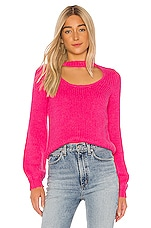 Lovers + Friends Tres Leches Sweater in Pink Rose