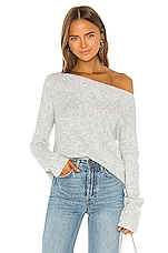 Lovers + Friends Alayah Off Shoulder Sweater in Grey