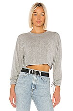 Lovers + Friends Yasmin Lightweight Sweatshirt in Heather Grey