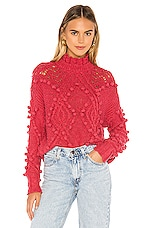 Lovers + Friends Daybreak Sweater in Soft Red
