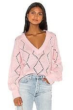 Lovers + Friends Monika Sweater in Light Pink