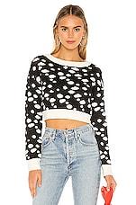 Lovers + Friends Myla Sweater in Black Appaloosa