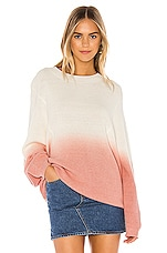 Lovers + Friends Andie Sweater in Pink & Cream Ombre