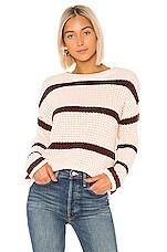 Lovers + Friends Kyla Sweater in Pink & Red Stripe