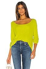 Lovers + Friends Camden Sweater in Lime Green
