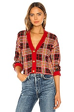 Lovers + Friends Brantley Cardigan in Red Plaid