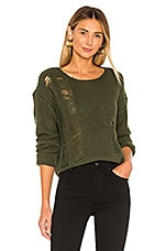 Lovers + Friends Dresden Sweater in Olive Green