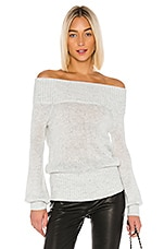 Lovers + Friends Elsa Sweater in Silver Sequins
