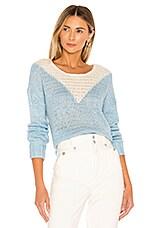 Lovers + Friends Ellie Sweater in Ivory & Blue