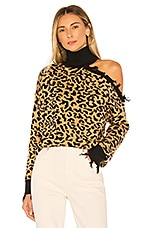 Lovers + Friends Arlington Sweater in Brown Leopard