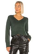 Lovers + Friends Jansen Sweater in Dark Green