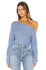 Lovers + Friends Porto Santo Sweater in Dusty Blue
