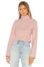 Lovers + Friends Sevilla Turtleneck Sweater in Soft Pink