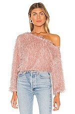 Lovers + Friends Rodeo Drive Sweater in Blush Pink