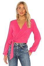 Lovers + Friends Wind Sweater in Hot Pink