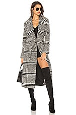 Lovers + Friends Sabra Coat in Black Check