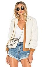 Lovers + Friends Simone Faux Fur Jacket in Ivory