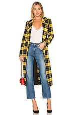 Lovers + Friends Sabra Coat in Yellow Check