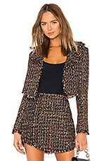 Lovers + Friends Paola Cropped Jacket in Nightlife