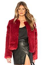 Lovers + Friends NYC Faux Fur Jacket in Cabernet