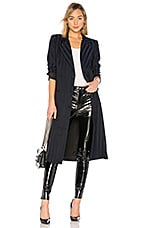 Lovers + Friends Tove Wrap Coat in Navy & Black