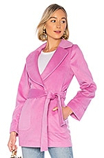 Lovers + Friends Remi Coat in Rouge Pink