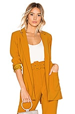 Lovers + Friends Rhyan Belted Blazer in Mustard