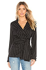 Lovers + Friends Bardot Wrap Jacket in Black