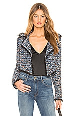 Lovers + Friends Paola Cropped Jacket in Blue Multi