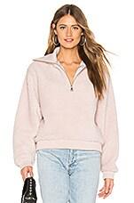 Lovers + Friends Jamey Zip Pullover in Blush