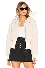 Lovers + Friends Coco Zip Up Jacket in Creme Brulee