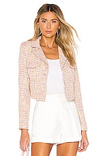 Lovers + Friends Noela Blazer in Pink Tweed