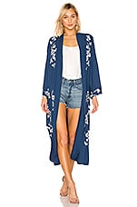 Lovers + Friends Yuna Kimono Jacket in Marquee Blue