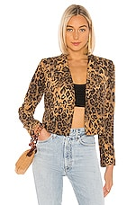 Lovers + Friends Atlanta Jacket in Leopard