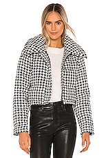 Lovers + Friends Brynlee Puffer Jacket in Black & White