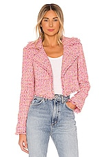 Lovers + Friends Paola Cropped Jacket in Pink Multi