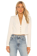 Lovers + Friends Honey Cropped Blazer in Snow White