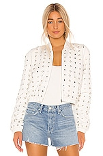 Lovers + Friends Kimber Bomber Jacket in Ivory