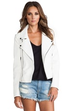 Lovers + Friends Babe Moto Jacket in White