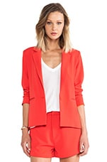 Be By My Side Blazer in Poppy